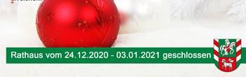Info Schließung Rathaus Weihnachten [(c) Thomas Hetzel]